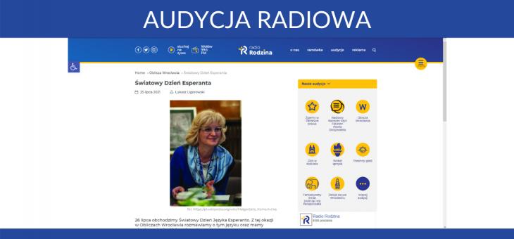 Audycja radiowa – Światowy Dzień Esperanta
